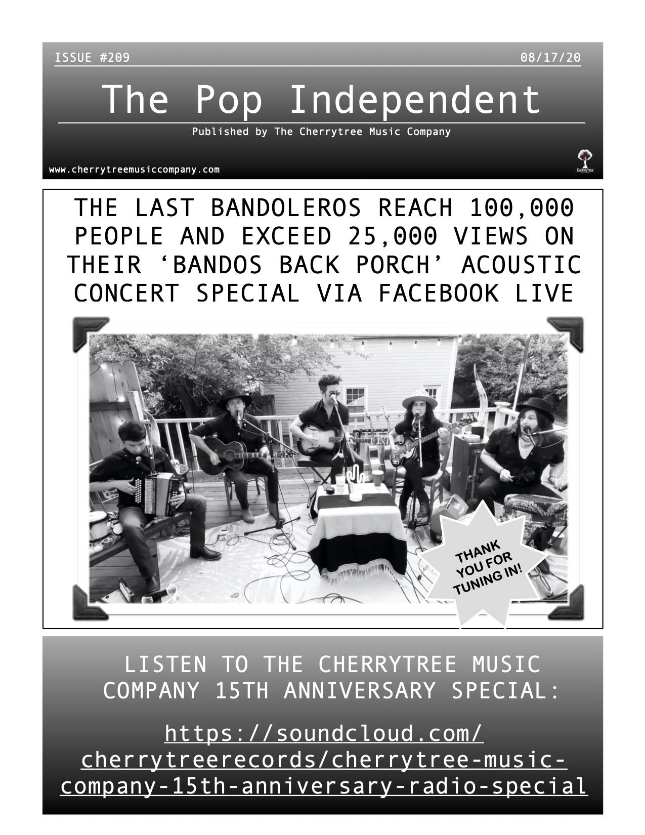 The Pop Independent, Issue 209